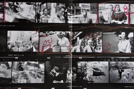 Front Endsheet: Garry Winogrand. Contact Sheets, 1960 (details).  Garry Winogrand Archive, Center for Creative Photography, University of Arizona. © The Estate of Garry Winogrand, courtesy Faenkel Gallery, San Fransico.