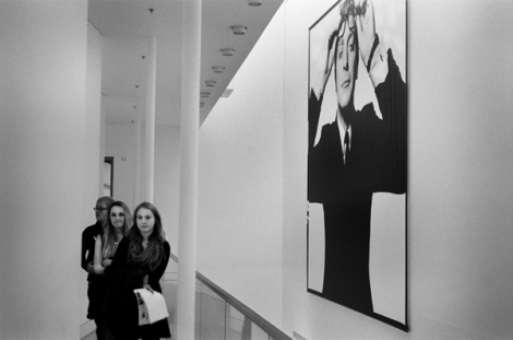 Bailey's 6m photo of Michael Caine dominates the NPG entrance hall.