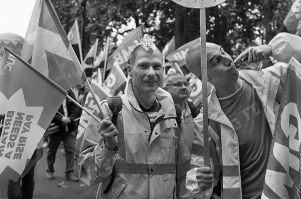 TUC March, Northumberland Avenue, London, England - 2014