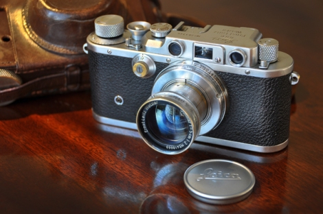 1938 Leica IIIb, 1938 Collapsible Summar f2 50mm, Ever-ready Leather Case.