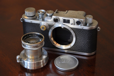 Wedded in Life: Leica IIIb and Summar, both 1938.