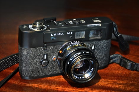 My 1972 Leica M5 chrome matte black with a 50mm f2 Summicron